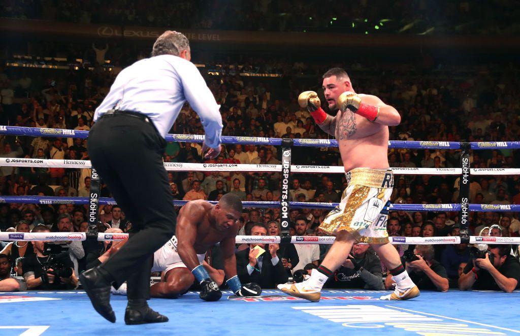 Andy Ruiz Jr. derrotó a Anthony Joshua en la pelea por el título mundial unificado de peso pesado de WBA, IBF, WBO y de IBO el sábado en el  Madison Square Garden (Foto de Nick Potts/PA Images via Getty Images)