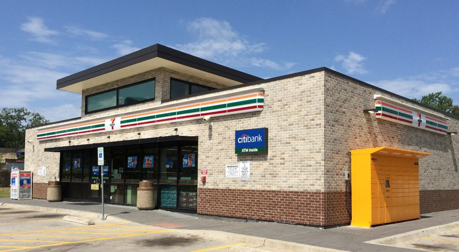 Amazon has a locker at the 7-Eleven store at 7567 Greenville Ave. in Dallas. Amazon started installing lockers in Dallas-area 7-Elevens in the summer.