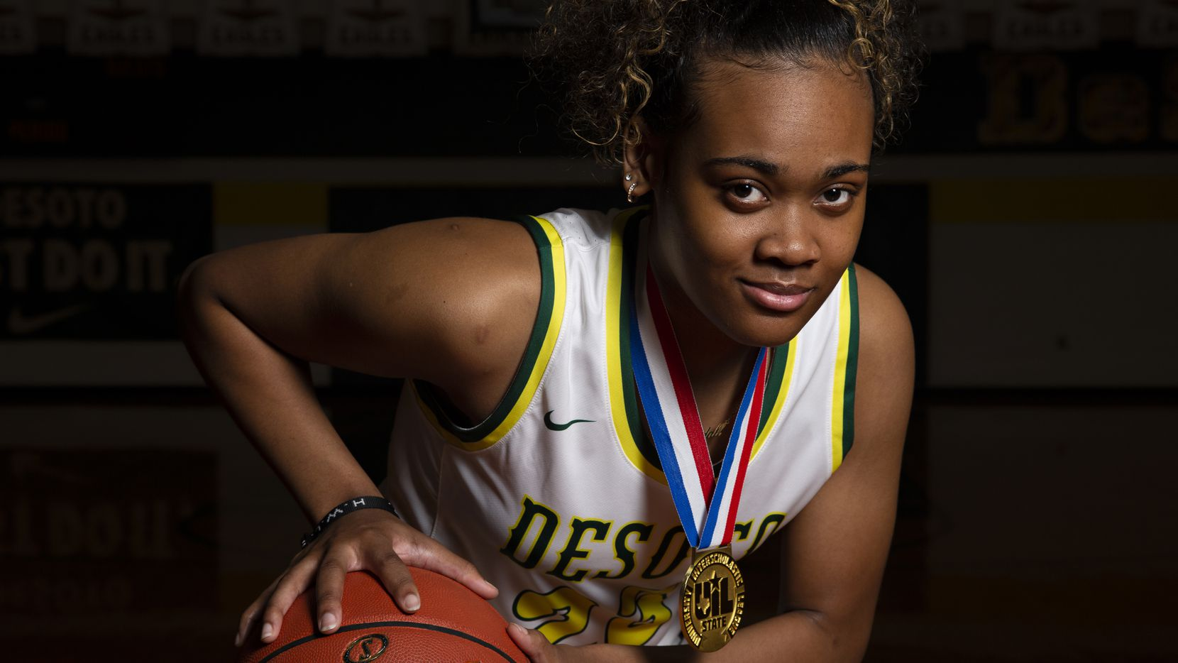 Kendall Brown is a senior guard for the DeSoto High School girls basketball team. Brown signed with Houston and helped lead DeSoto to their first girls basketball state title in school history. (Shelby Tauber/Special Contributor)