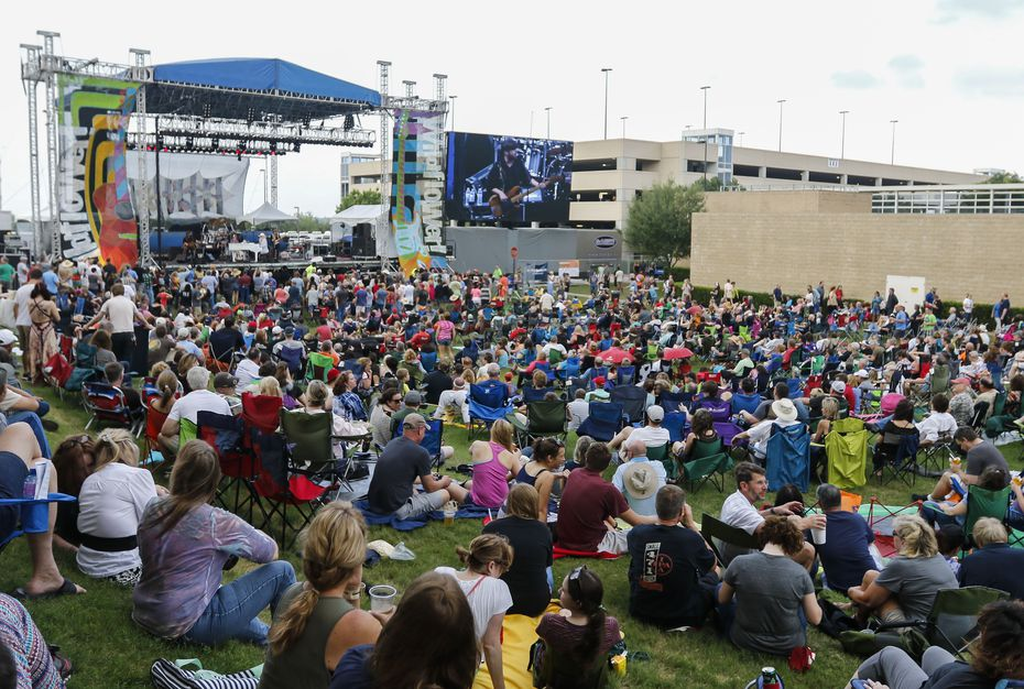 The crowd gathered for singer Leon Russell's performance on the Amphitheater Stage at the Wildflower! Arts & Music Festival in Richardson on May 16, 2015.