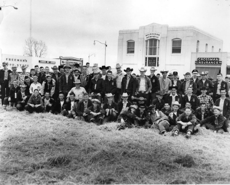 FFA is celebrating its 75th year of the program at Garland High School. The photo shows members gathered for a Garland Local Show on the downtown square.