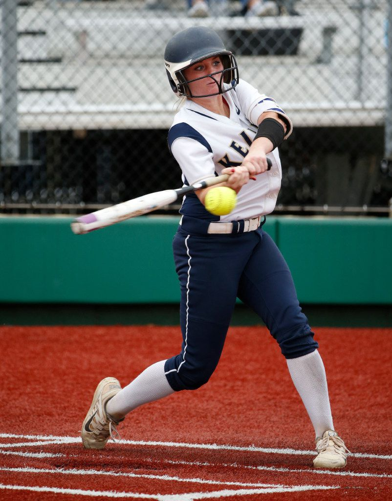 Keller's Kasey Simpson bats against Plano East during Game 2 of the Class 6A Region I semifinal series on May 19, 2017. (Michael Ainsworth/Special Contributor)