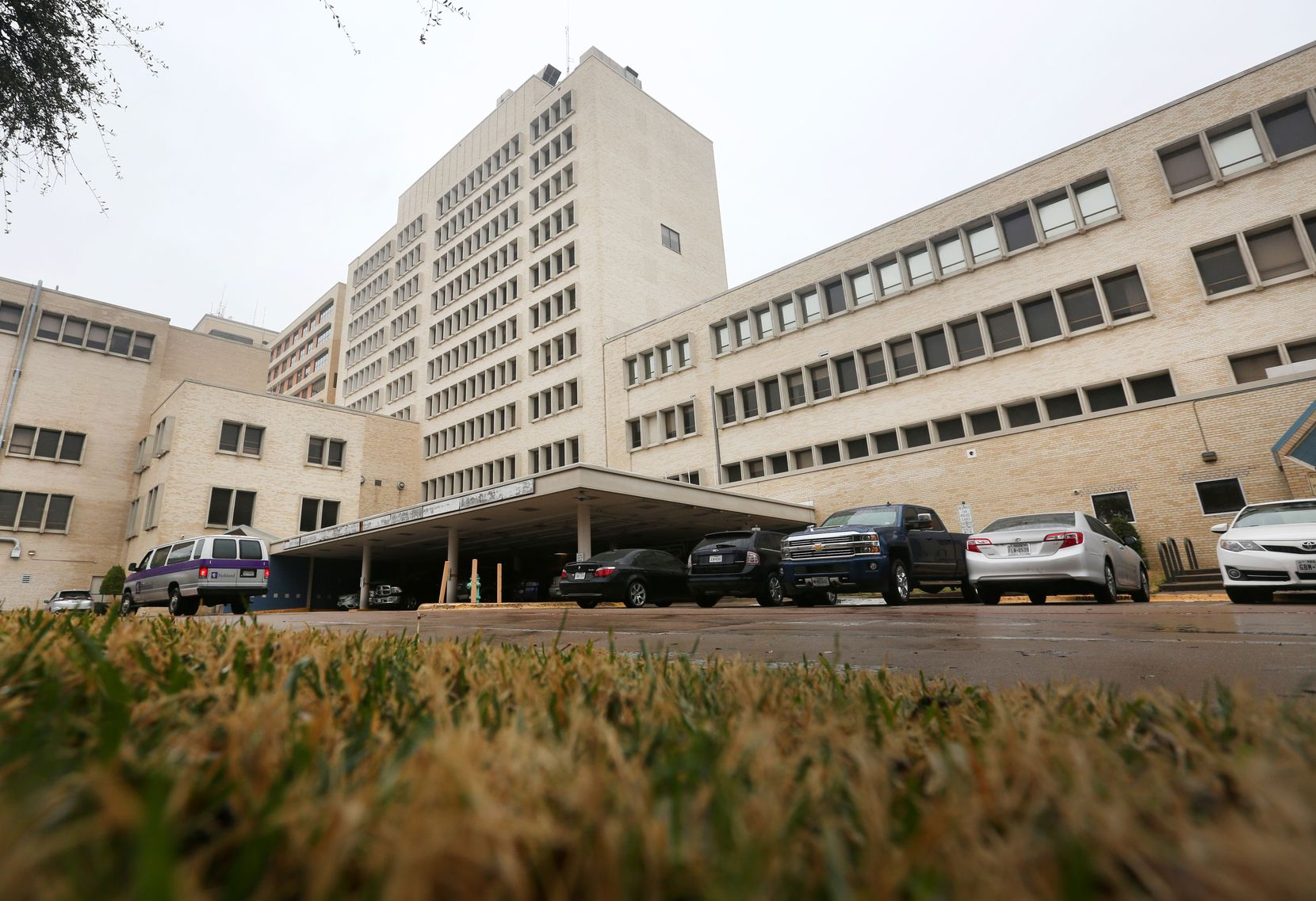 The former Parkland Hospital buildings date back to the 1950s.
