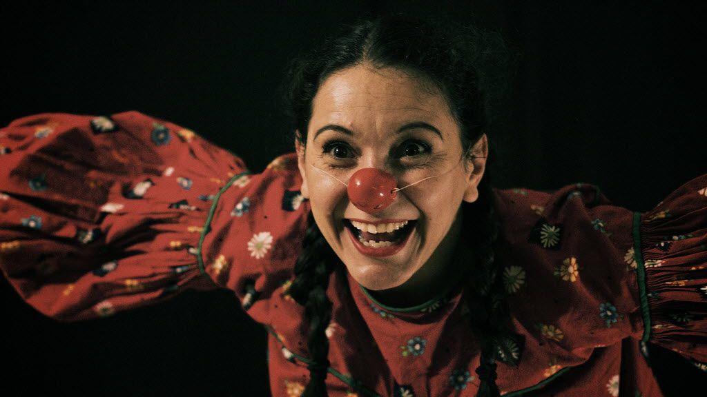 Frida Espinosa Muller performs as Nina Clown in Cara Mia Theatre Company's Nuestro Pastorela   at the Latino Cultural Center in Dallas