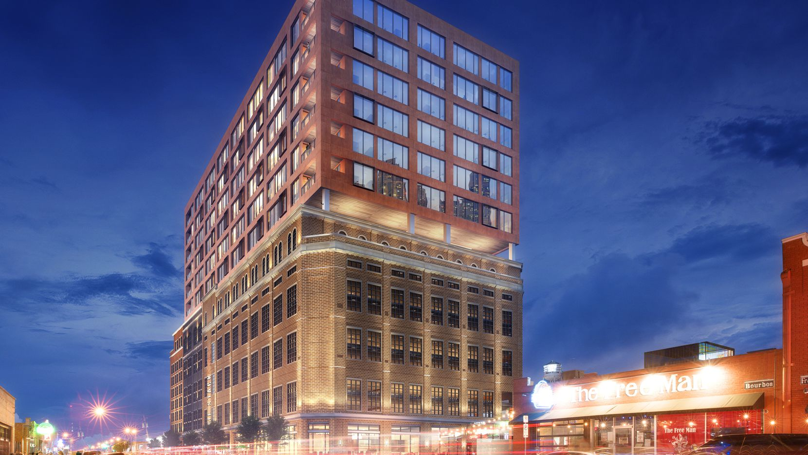 The 16-story building on Commerce Street will have office and retail space.