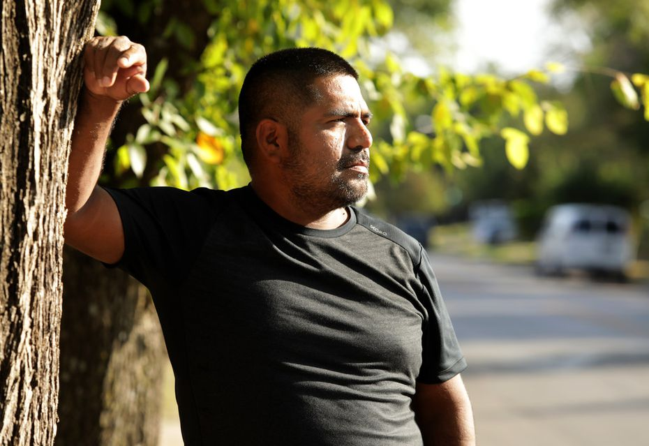 Oscar Torres poses for a photograph near his home in Dallas on Sept. 21, 2019.