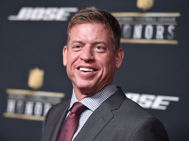 Former NFL player Troy Aikman. (Photo by Jordan Strauss/Invision for NFL/AP Images)