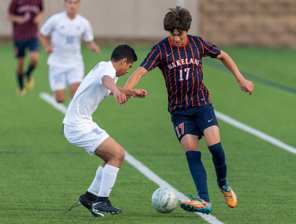 Frisco Wakeland's Marc Borbonus (right) is tied for ninth in the area in scoring with 13 goals. (Stephen Spillman/Special Contributor)