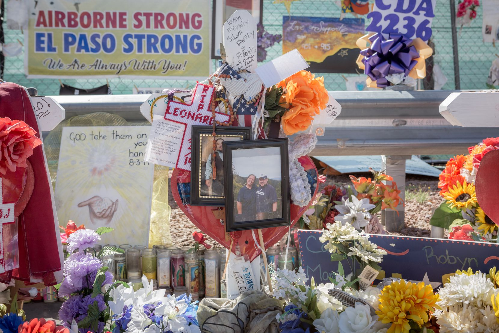 Friends and family of the victims visited the memorial for the Dia de los Muertos celebration in El Paso on Saturday, Nov. 2, 2019.