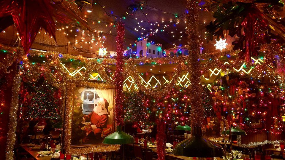 Christmas lights, garland and a painting of Santa Claus are just some of the holiday decor around Campo Verde in Arlington. The decorations at the Mexican restaurant aren't just around for December, but are on display from October to March.