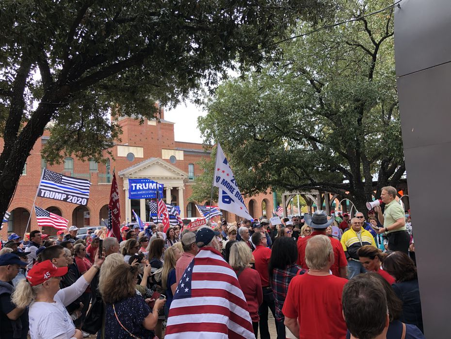 "The ""Silent No More"" rally in downtown Grapevine on Nov. 8, 2020."
