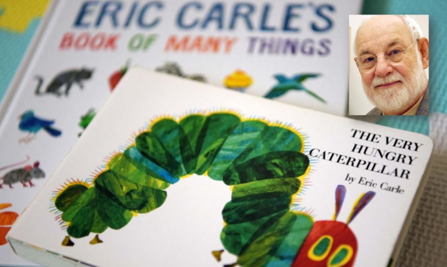 """Eric Carle fue autor de decenas de libros.  """"The Very Hungry Caterpillar"""" (La oruga muy hambrienta) fue uno de los más populares y es usado en educación temprana."""