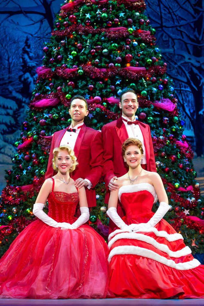 Irving Berlin's White Christmas.  Clockwise from top left:  Jeremy Benton, Sean Montgomery, Kerry Conte and Kelly Sheehan.