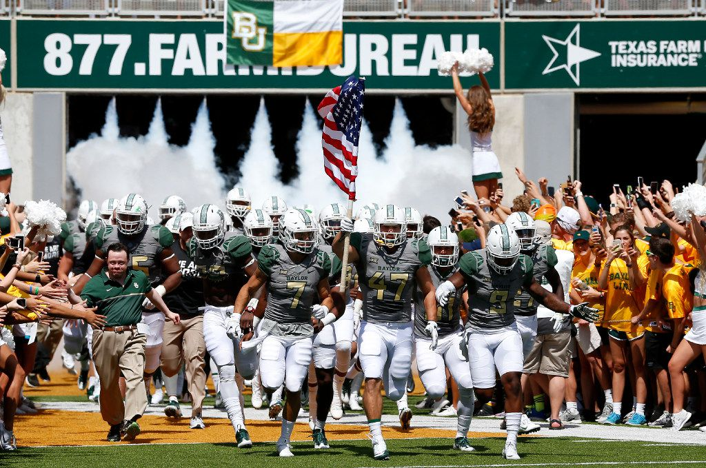 Baylor players take the field against SMU at McLane Stadium in Waco on Saturday, Sept. 10, 2016. (Jae S. Lee/The Dallas Morning News)