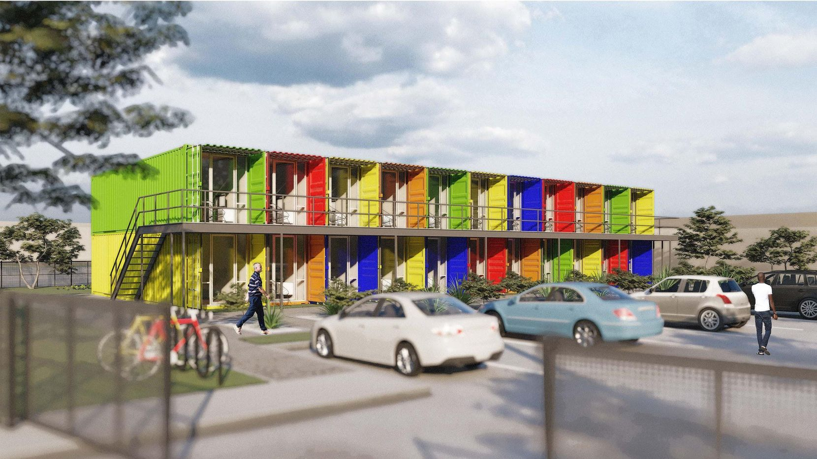 The Lomax Container Housing Project will be built on South Malcolm X Boulevard.