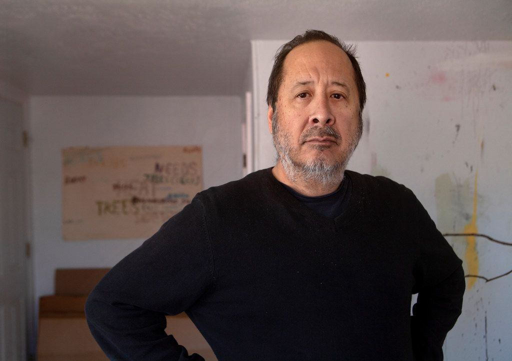 Artist Stephen Lapthisophon, at his studio in Dallas on March 6, 2018, has been named artist/education honoree for the 2019 Dallas Art Fair.