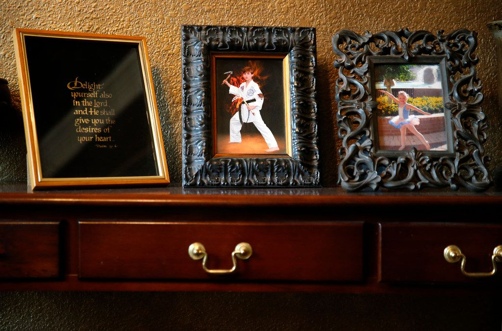 The Speed home is dotted with family photos, included Braden in a 2011 taekwondo photo and his sister, Caitlin, before a dance performance.