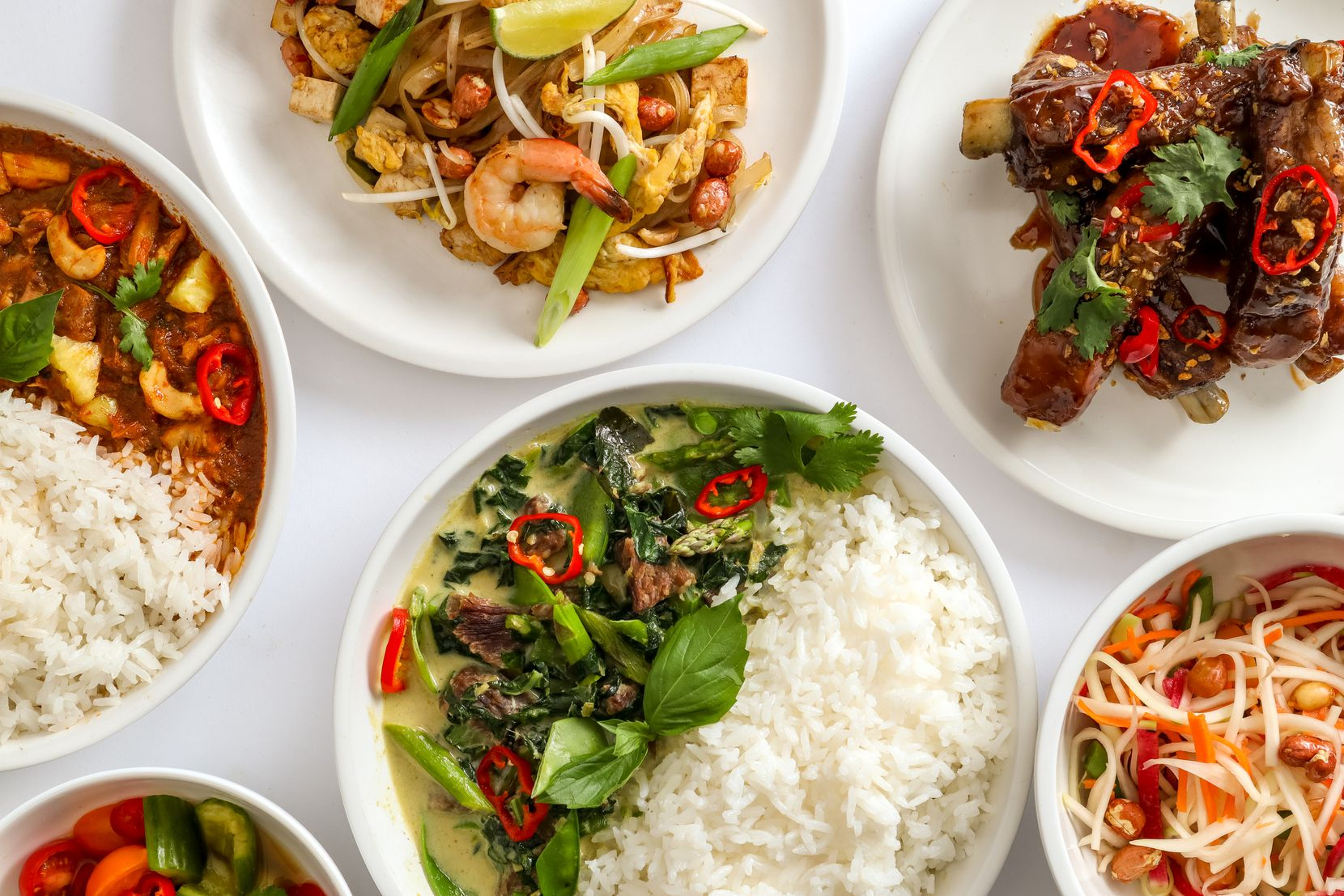 Sweetbasil Thai offers delivery from a ghost kitchen.