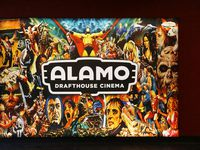 This 2018 file photo shows a sign in the lobby of the Alamo Drafthouse Cinema off Abrams Road in Dallas.