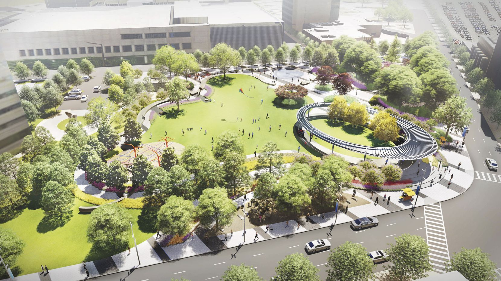 Construction starts on April 17 on the $15 million Pacific Plaza park.