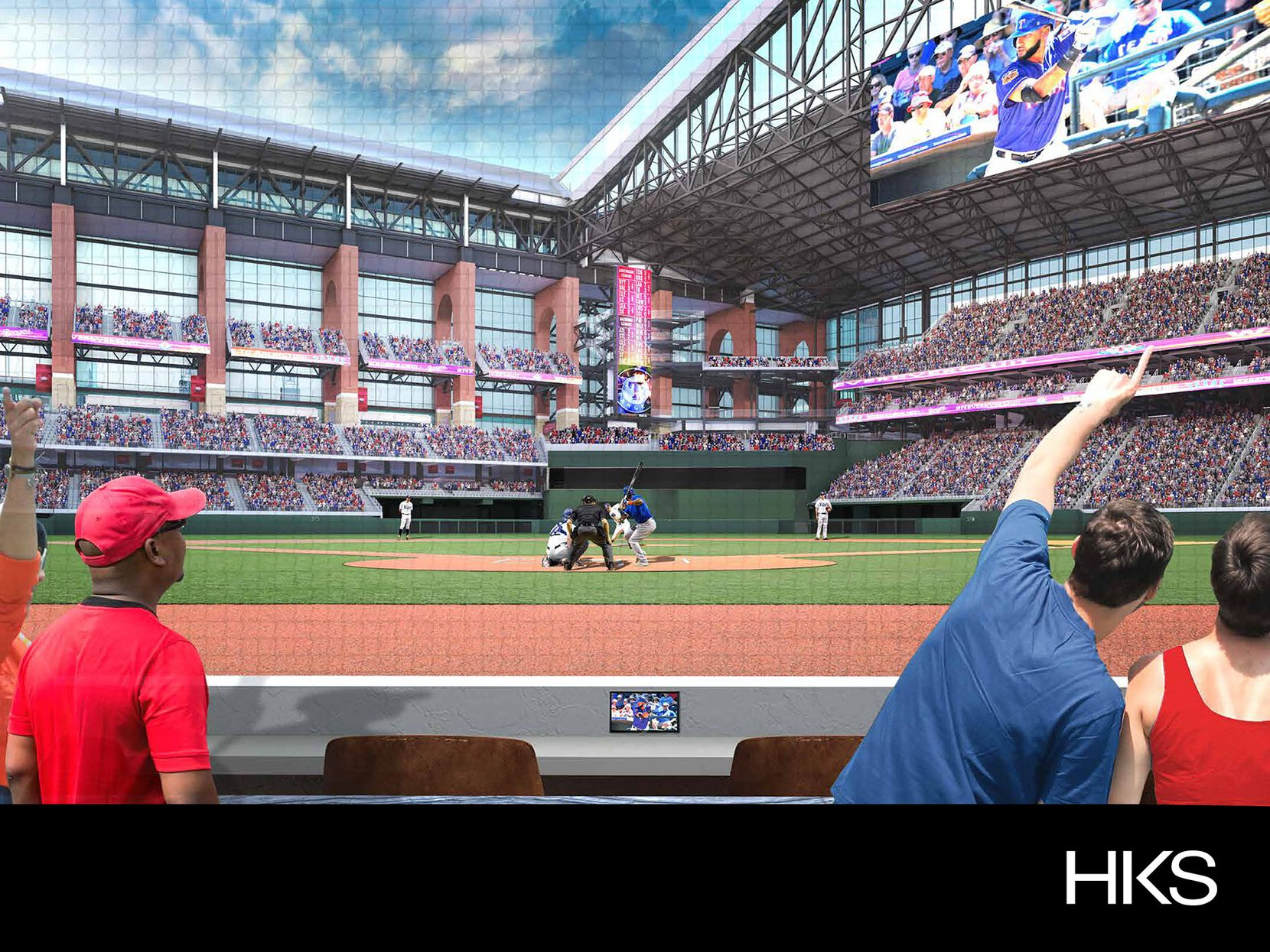 Rendering via The Texas Rangers.