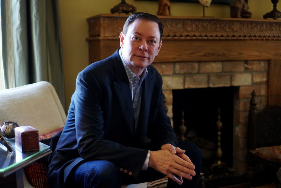 Author Andrew Solomon at his home in Fort Worth, Texas on Friday, February 25, 2017.