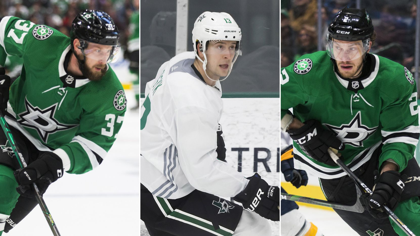 From L to R: Dallas Stars players Justin Dowling, Mark Pysyk, Jamie Oleksiak.