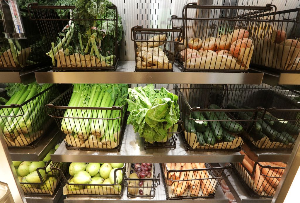 Some of the fresh food at Original Chop Shop in Plano, TX, on Jun. 13, 2019. (Jason Janik/Special Contributor)