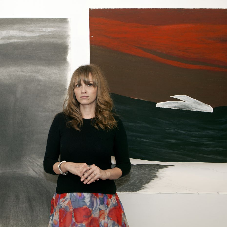 Artist Robyn O'Neil. a native Texan, is shown in her studio in Thousand Oaks, Calif., in 2014.