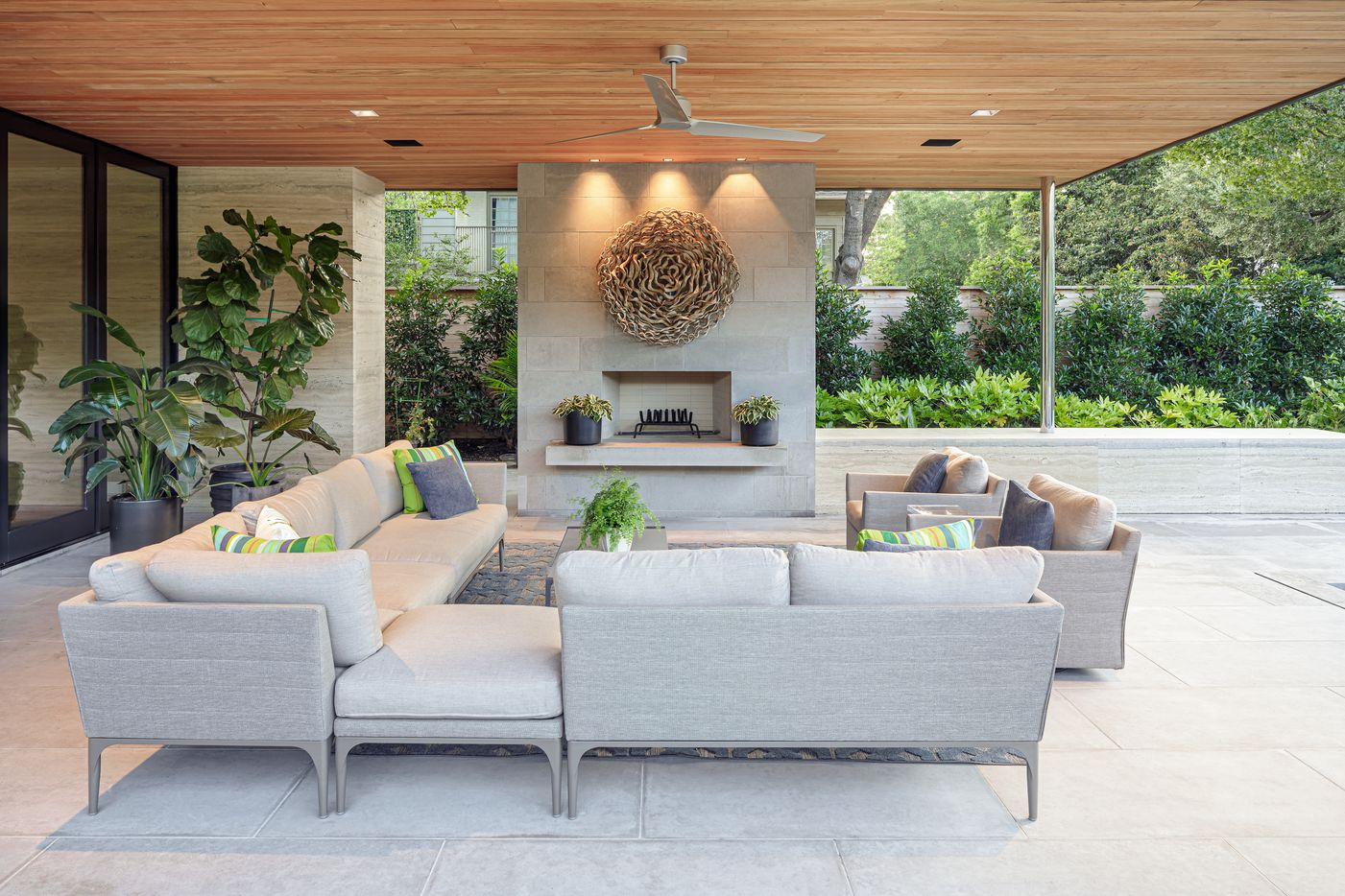 A patio at 4020 Glenwick Lane.