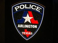 The seal of Arlington Police Department photographed at its headquarter in Arlington, Texas on Thursday, Jan. 17, 2019.(Shaban Athuman/The Dallas Morning News)