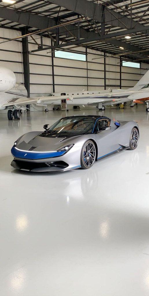 The Pininfarina GT Battista was at Million Air in Addison on Friday.