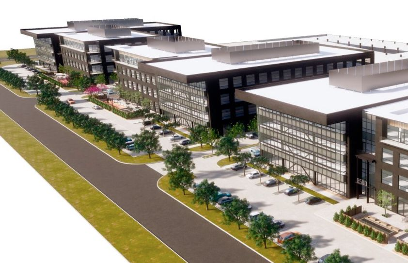 Three office buildings are planned in the Braun on Belt Line project.
