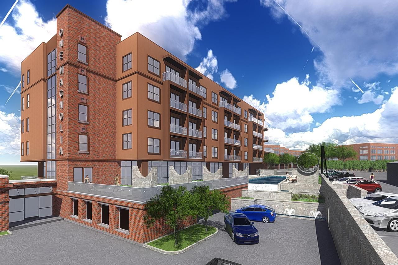 A 60-unit, one-of-a-kind rental building will go up as part of the historic Magnolia Station development next door to Dallas' Victory Park. The 104-year-old former oil company complex was redeveloped into loft apartments in the 1990s.