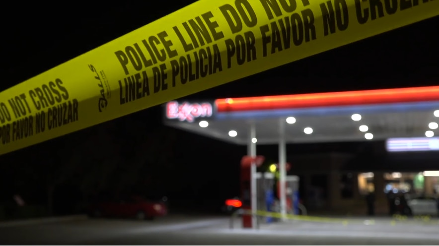 An image from the scene at Rosemeade and Midway, from video captured by Metro Video Dallas/Fort Worth.