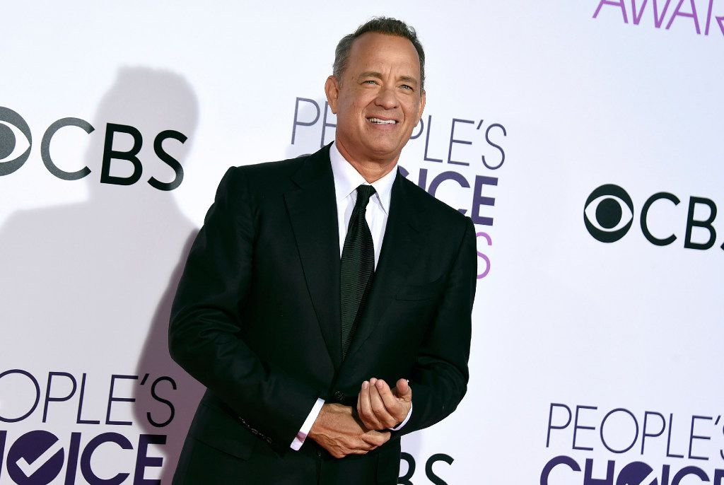 Tom Hanks arrives at the People's Choice Awards at the Microsoft Theater in Los Angeles.