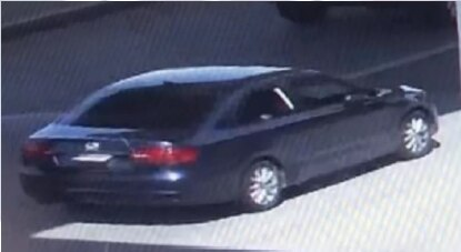 Police are looking for a blue 2011-14 Volkswagen Jetta with a paper tag.