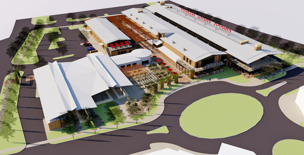 The more than 70,000 square-foot farmers market will include indoor and outdoor selling space. (USA Infrastructure Investments)