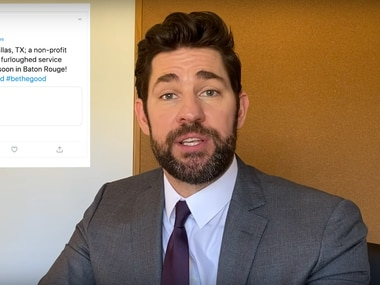 "Actor John Krasinski spotlights Dallas non-profit Furlough Kitchen in an April 5 episode of his YouTube series ""Some Good News with John Krasinski."" Furlough Kitchen provides free meals to workers laid off from jobs in the hospitality industry."