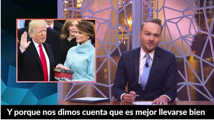"""""""Zondag met Lubach"""" es el programa responsable del video satírico para Donald Trump."""