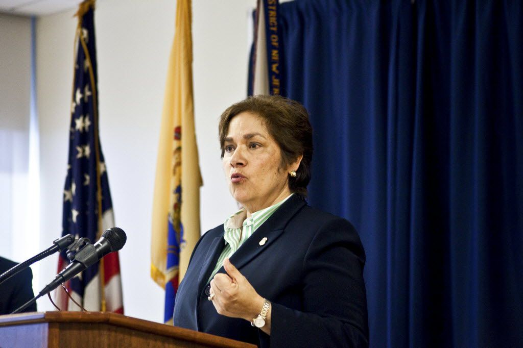 Sarah Saldana conducted a news conference about a sting operation involving visas last year when she was the director of Immigration and Customs Enforcement. The Dallas attorney had headed the U.S. attorney's office in Dallas before that. (File Photo/The New York Times)