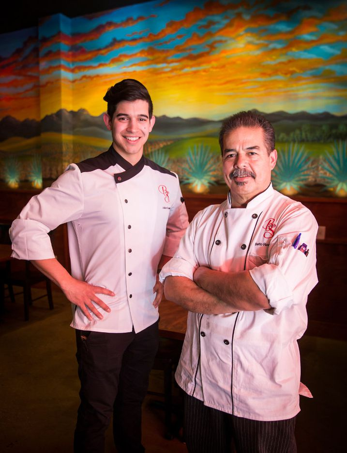 Despite his father Beto's  best efforts to dissuade him from a career in restaurants, 23-year-old Julian Rodarte (left) went on to graduate from New York's Culinary Institute of America and now co-owns Beto and Son in Trinity Groves with his dad.