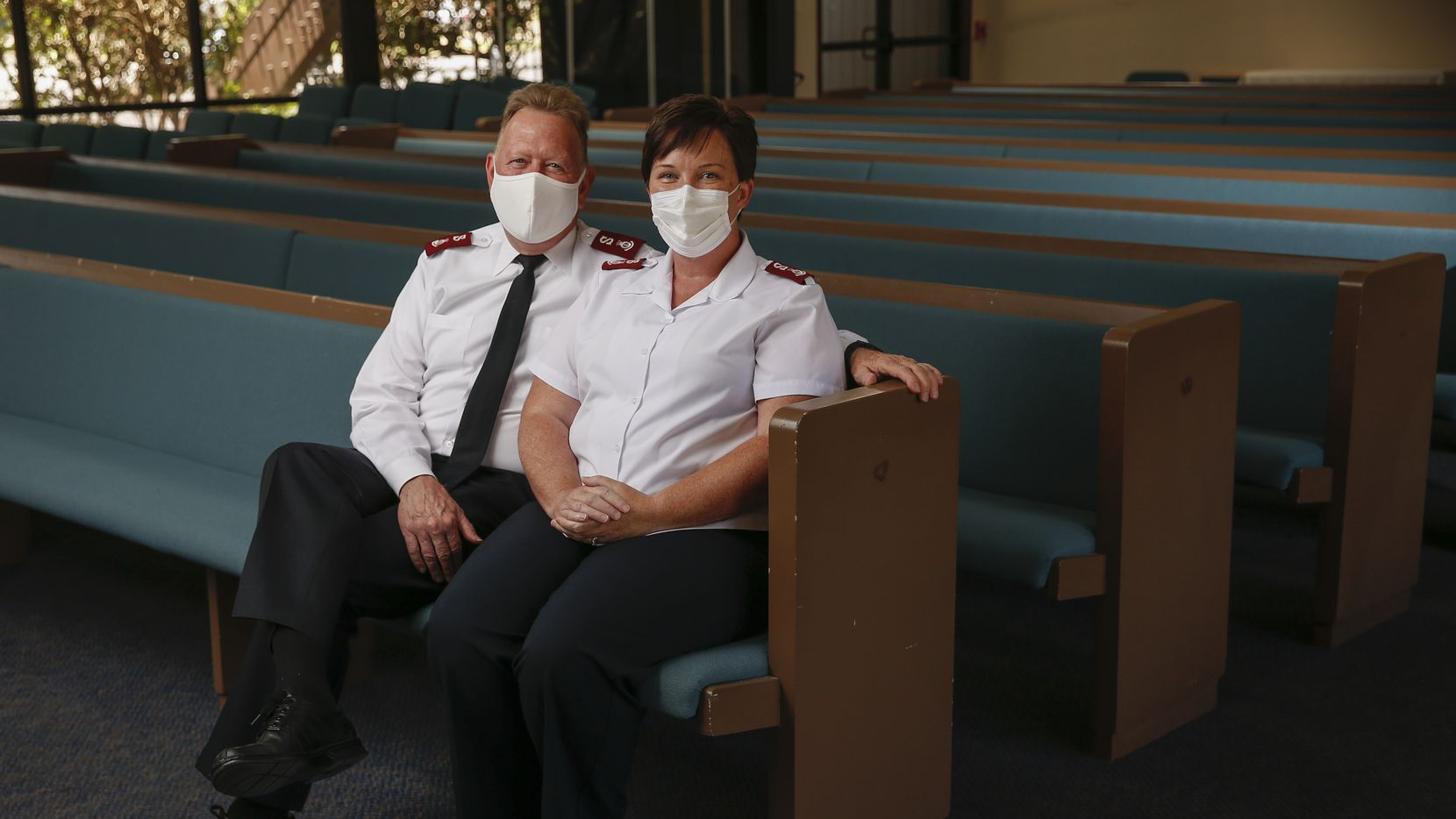 Salvation Army Majs. Todd and Bethany Hawks are photographed at The Salvation Army Oak Cliff.
