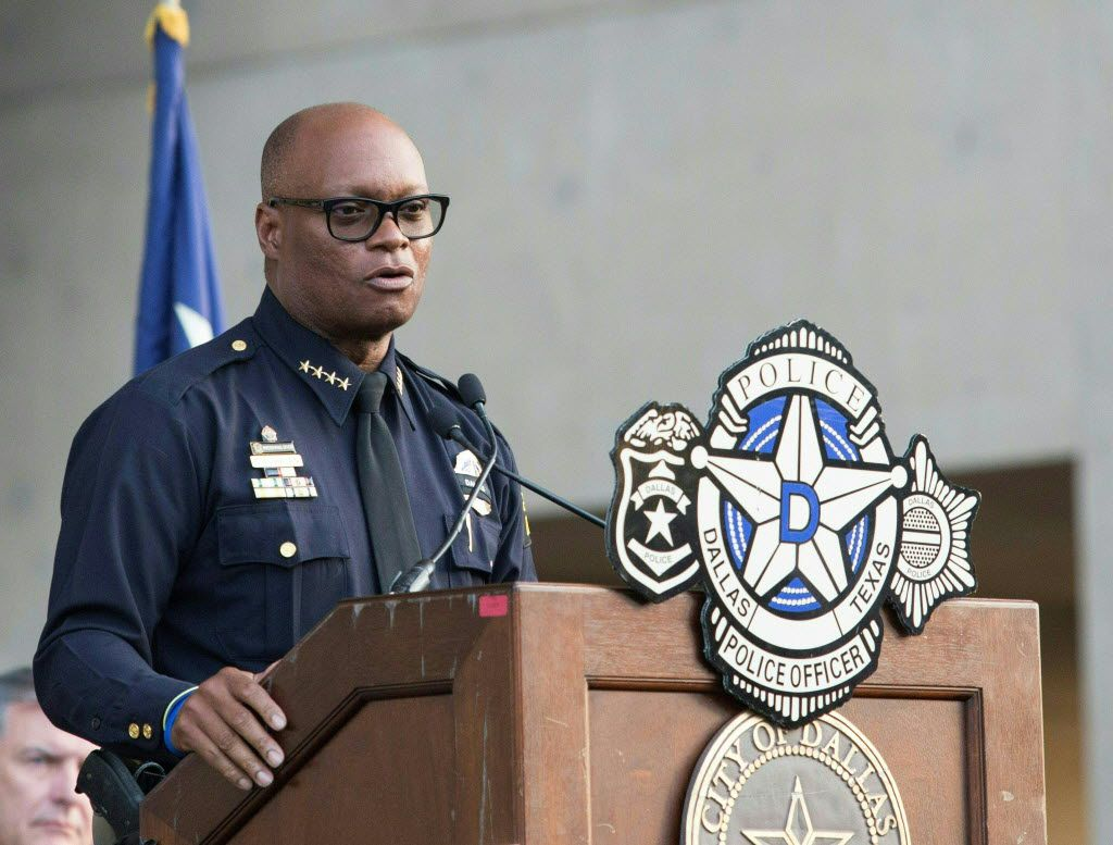 Dallas Police Chief David Brown's department is leaning on a state law that affords it discretion to keep certain records under wraps during an investigation.  (Agence France-Presse)