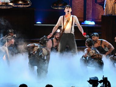 "The cast of ""Hadestown"" performs at the 73rd annual Tony Awards at Radio City Music Hall on June 9, 2019, in New York."