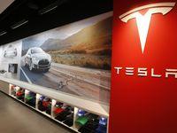 Tesla Motors' gallery at NorthPark Mall in Dallas.
