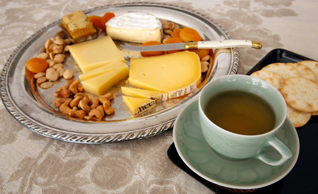 An oolong tea paired with cheddar, comte and soft-ripened cheese from Vermont