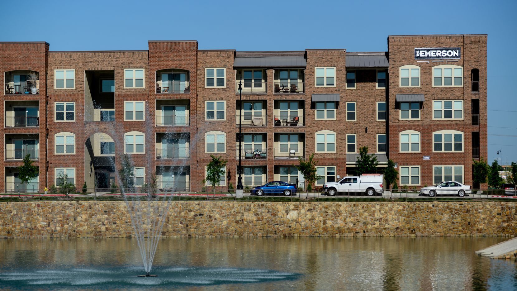 The Emerson and Emerson Court apartments are near the Dallas North Tollway.