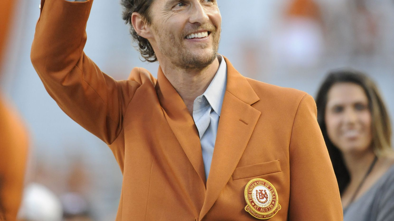 Actor Matthew McConaughey bleeds burnt orange and is a frequent guest on the sidelines at Texas Longhorns games.