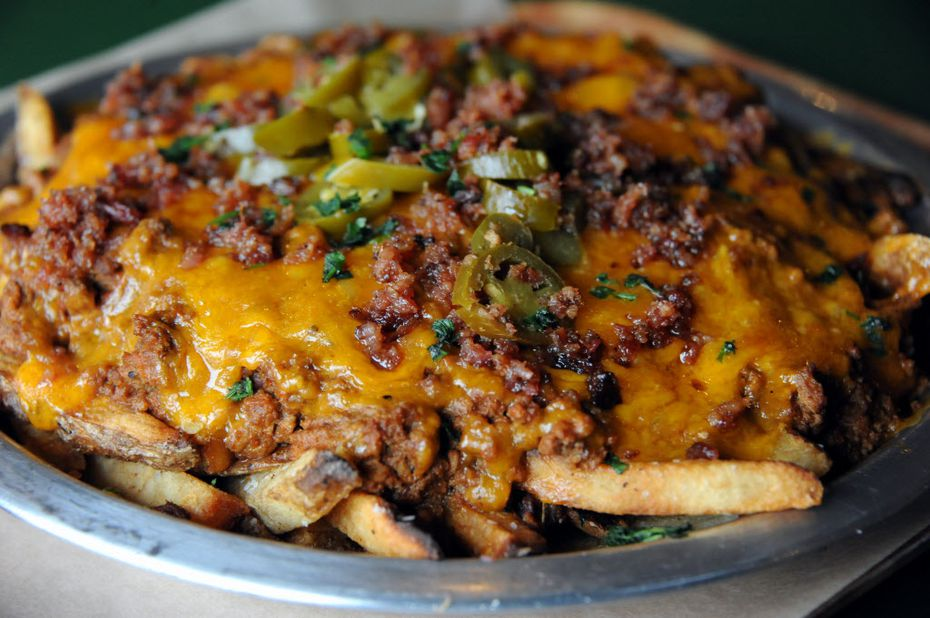 Everybody seems to get the cheese fries surprise at Rodeo Goat. We'll share the surprise, but don't tell: They're hand-punched fries with parsley, cheddar, chili and jalapeño.